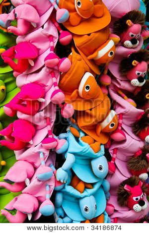 Colorful Design Animal Hat , Pataya , Thailand.
