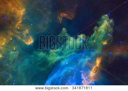 Deep Space Art. Starfield Stardust, Nebula And Galaxy. Elements Of This Image Furnished By Nasa.