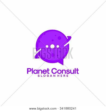 Planet Consult Logo Designs Vector, Consulting Place Logo Template, Planet Logo Template
