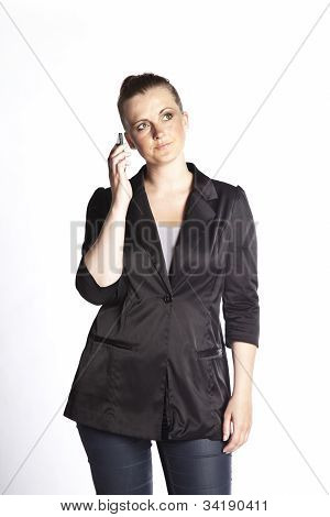 Unhappy Woman On The Phone