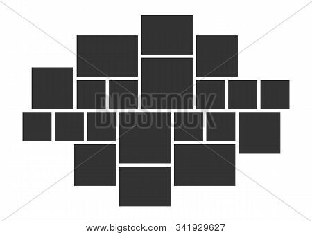Photo Collage Frames Template. Moodboard. Vector Photo Frame Layout. Collage Composition.