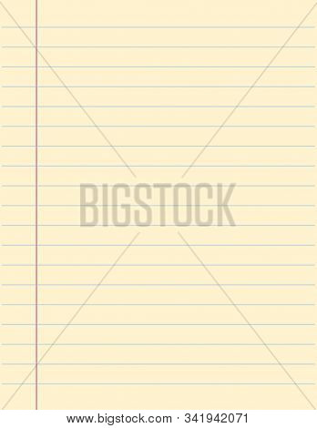 Blank Paper Sheet, Empty Space For Message Vector Isolated