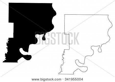 Phillips County, Arkansas (u.s. County, United States Of America,usa, U.s., Us) Map Vector Illustrat