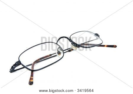 Some simple eyeglasses isolated on white backround. poster