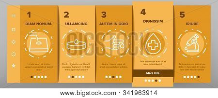 Hematology Onboarding Mobile App Page Screen Vector. Blood Erythrocytes And Analysis, Diabetes And I