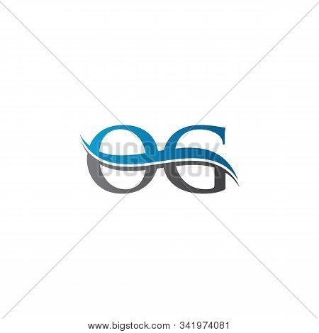 Swoosh Letter Og Logo Design Vector Template. Water Wave Og Logo Vector.