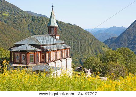 Small Church In The Alps In Slovenia, Europe