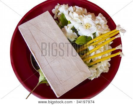 Component For Respect Teacher Ceremony In Red Tray