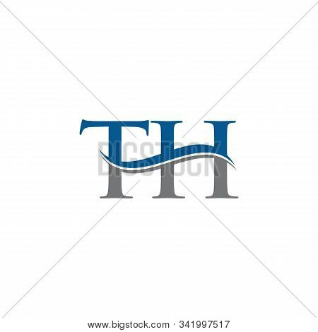 Swoosh Letter Th Logo Design Vector Template. Water Wave Th Logo Vector.