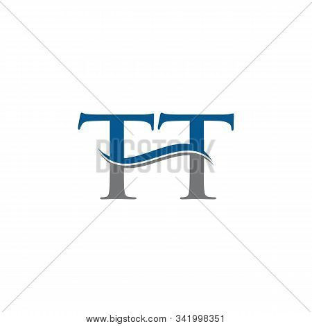Swoosh Letter Tt Logo Design Vector Template. Water Wave Tt Logo Vector.