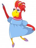 Cartoon Character Funny Wife Parrot Isolated on White Background. Vector EPS 10. poster
