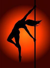Romantic Dancing Girl In Soft Light. Vector Illustration.