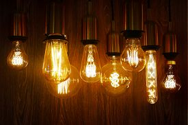 Vintage Or Retro Lamp On Old Wall In Home, Feeling Romantic In Old Home With Retro Light, Lighting E