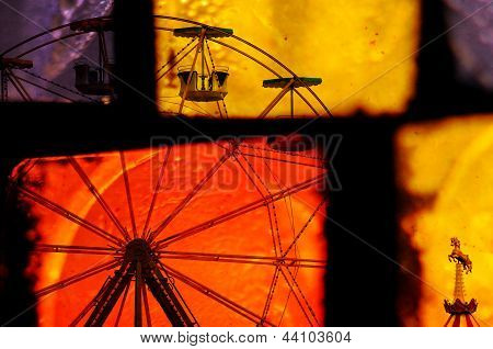 Ferris Wheel Carousel Abstraction