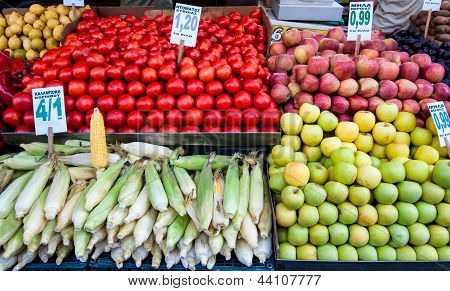 Fruits Stall In Istandbul