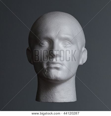 Polystyrene Head In Shadow