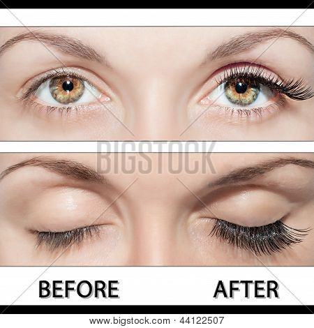 Eye And False Eyelashes