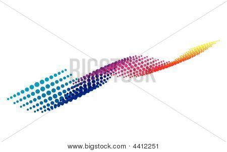 Original halftone pixel wave background. Vector illustration. poster