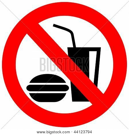 No eating vector sign