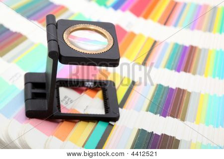Magnifying Glass On Colors