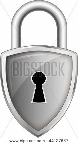 Lock Pad Security Logo Silhouette Vector Illustration