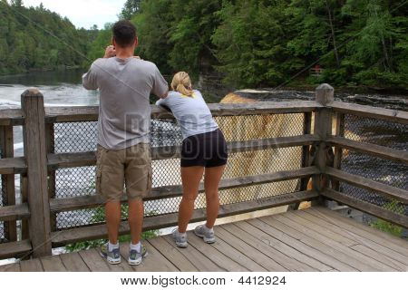 Couple Viewing Tahquamenon Falls