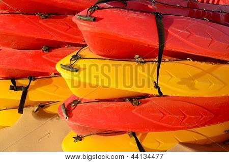 Piled Canoes