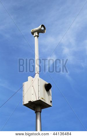 Traffic enforcement  camera placed at the intersection in Brooklyn, NY