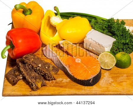 Salmon Salad Ingredients