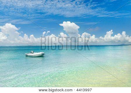 Boat At Deserted Island