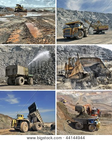 Set Of Images Of Mining Equipment