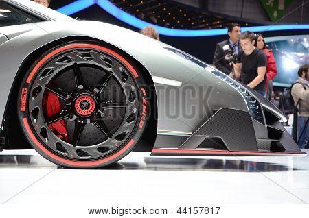 The new Lamborghini Veneno at the 2013 Geneva Motor Show