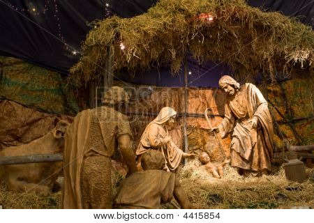 Nativity Of Christ In Cathedral De Arequipa
