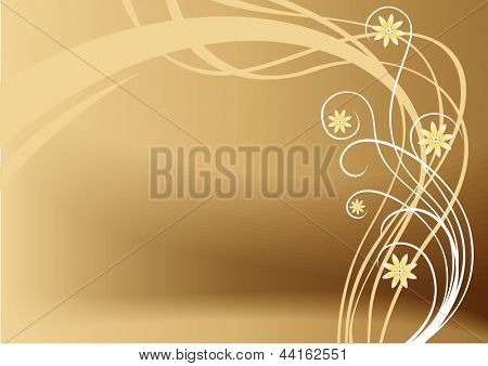 vector brown floral background