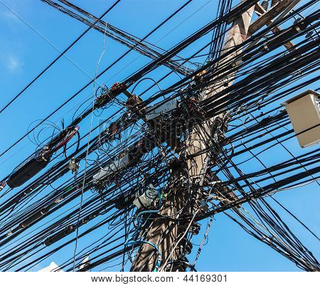 Intertwining Of Many Electrical Wires