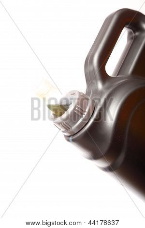 Can With Car Engine Oil Isolated