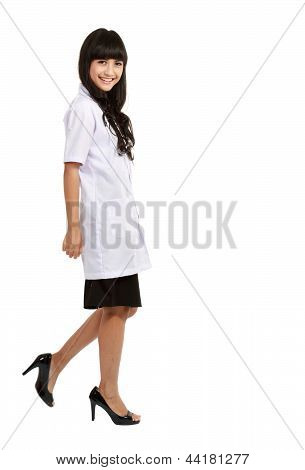 Young Medical Doctor Standing In Full Length