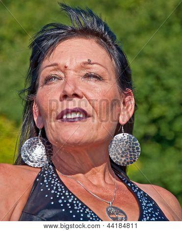 Mature Native American Woman Portrait
