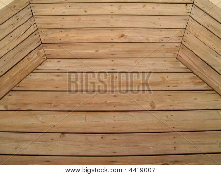 Patterned Weathered Wooden Deck