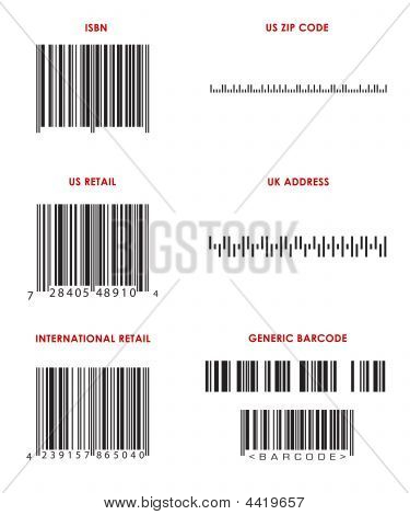 Various Bar Codes