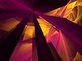 Abstract background. Purple - yellow palette. Raster fractal graphics. poster