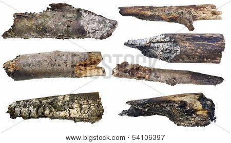 Charred Smoking Logs