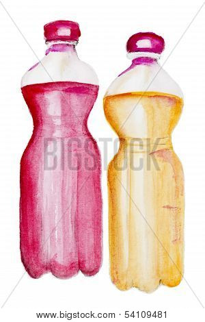 Lemonade With Red And Yellow Syrup