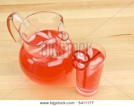 Juice In Glass And Pitcher