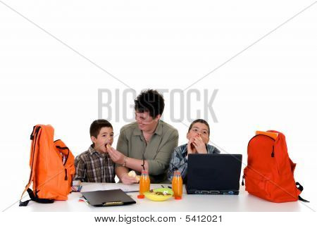 Boys Doing Homework