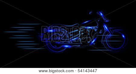 Vector Sketched Motorcycle