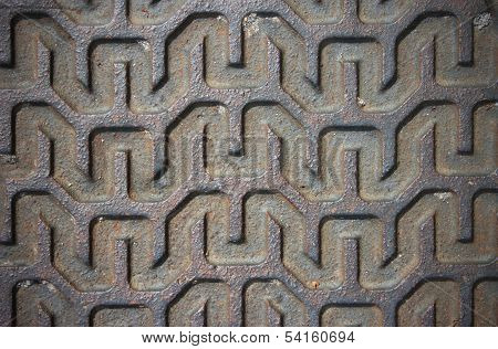 Metal Surface With Linear Pattern