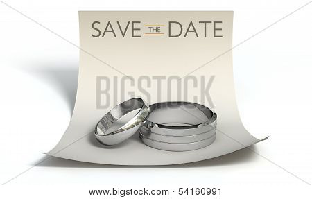 Save The Date Rings And Note