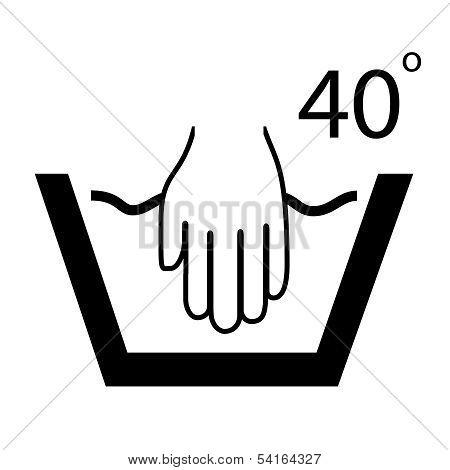 Hand wash vector symbol