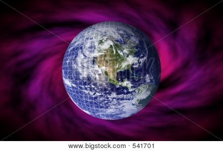 planet earth background poster